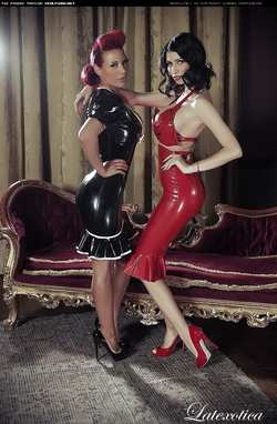 Image #70263 (fetish): latex, lily roma, tiffany chambers