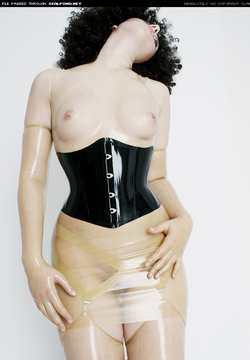 Image #26758 (fetish): corset, latex, lilly, tits