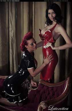 Image #70268 (fetish): latex, lily roma, tiffany chambers